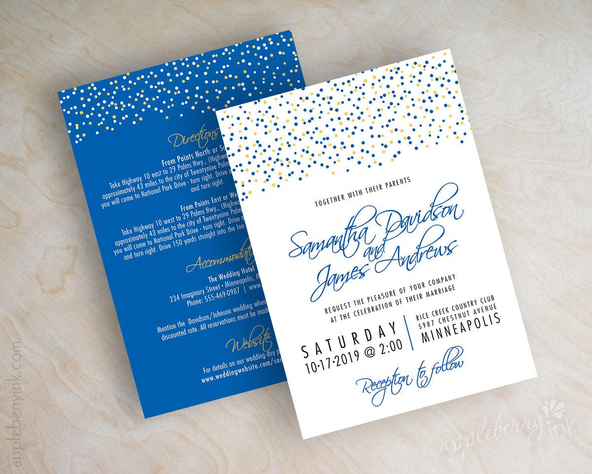 Shown In Golden Yellow Royal Blue Printed Front And Back
