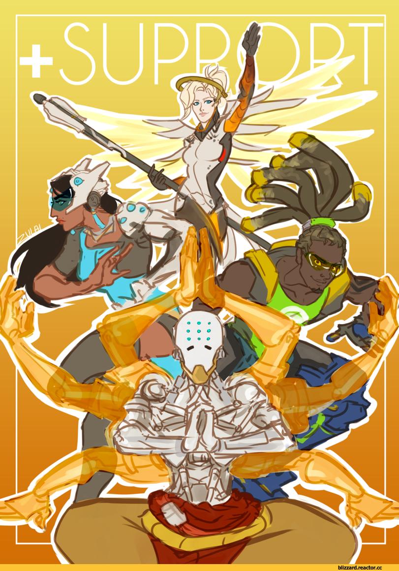 Blizzard Blizzard Entertainment фэндомы Overwatch Art