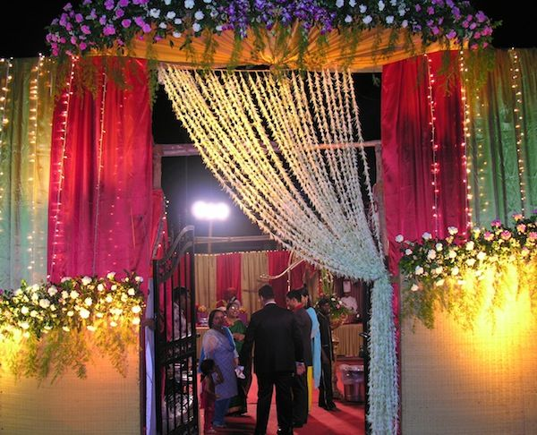 Mehndi Flower Garlands : Jai malas out of sustainable flowers curtains at an indian