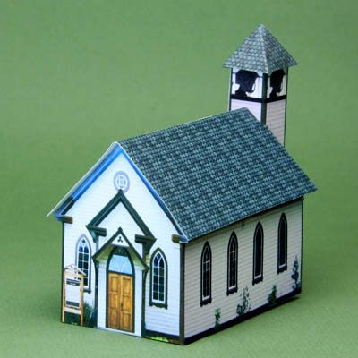 Links to printable miniature 1:144 scale village pieces