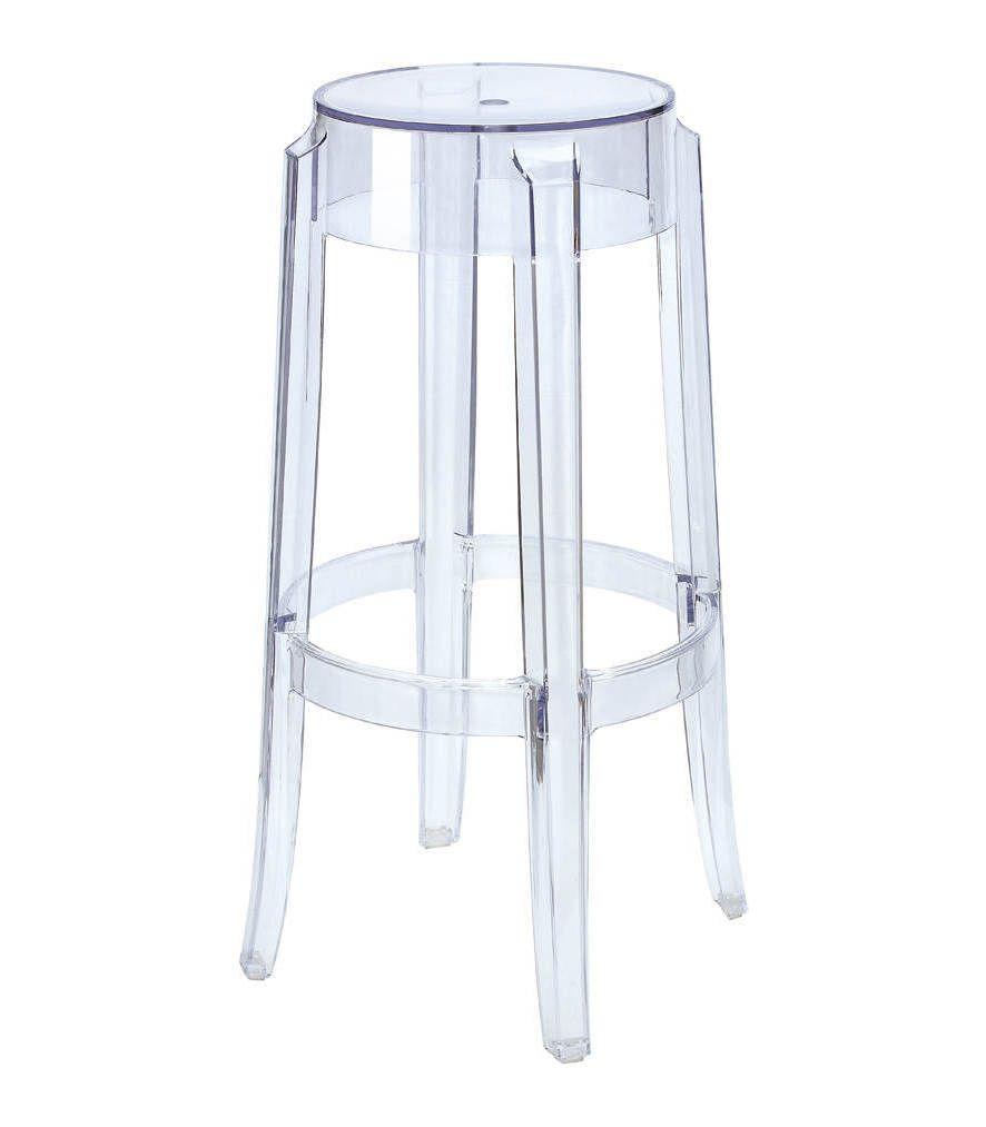 replica philippe starck charles ghost bar stool  atelier inspo  - replica philippe starck charles ghost bar stool