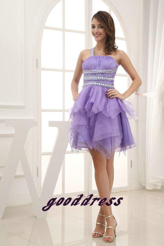New Arrival Custom Purple One shoulder Crystal Sash by gooddress, $153.99