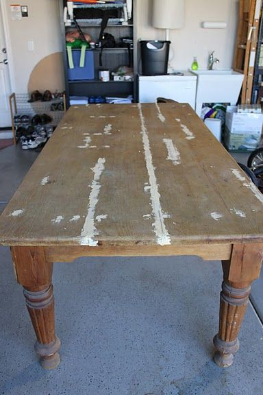 Craigslist Dining Table Before After Farmhouse Kitchen Table
