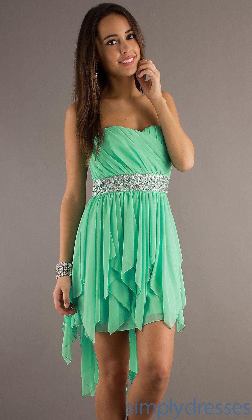 Tween dresses strapless long strapless high low dress for Wedding dresses for tweens