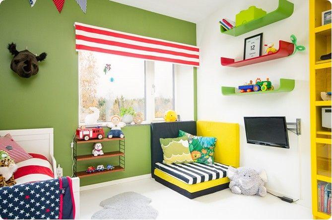 p>Et pourquoi pas du vert lichen dans une chambre d\'enfant ? On peut ...