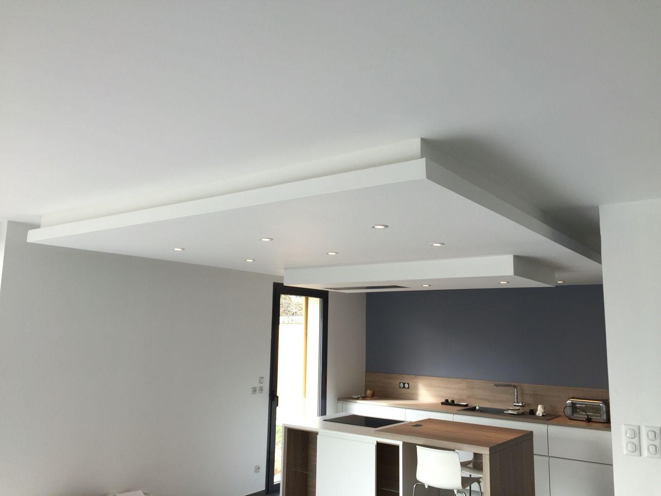 Plafond En Placoplatre Avec Hotte Integree Maison Faux Plafond Hotte Integree