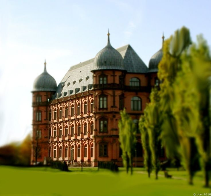 Schloss Gottesau Karlsruhe am PC überarbeitet