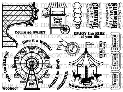 """""""life is a carnival"""" stamp at thecraftsmeow.com for $20"""