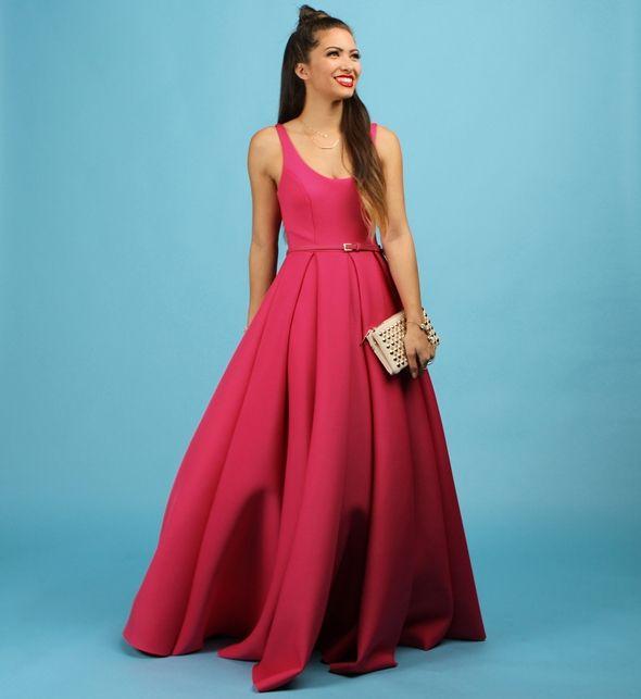 ecf274acac729 Camille- Pink Scuba Formal Dress | Prom | Formal dresses, Dresses ...