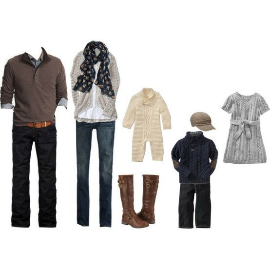 Family Portrait Clothing Ideas Winter Fall Pictures