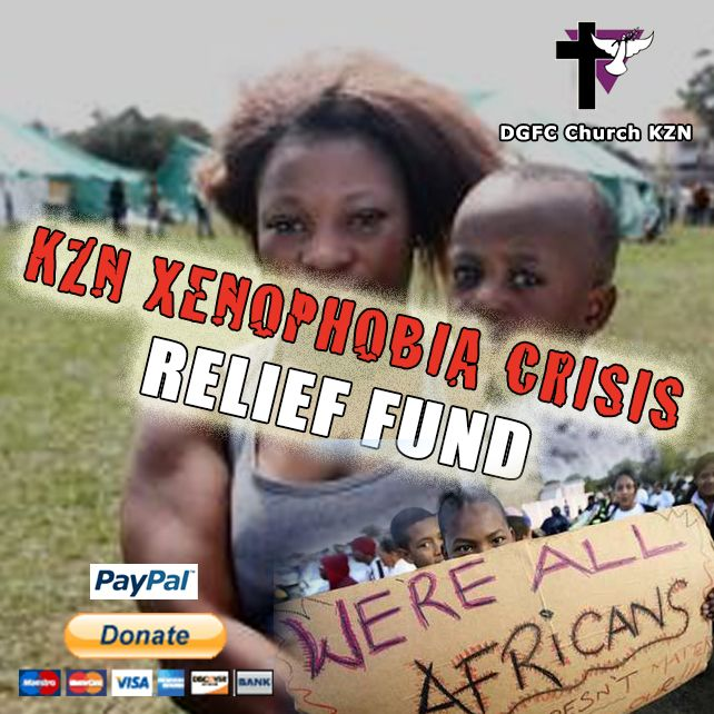 Donate now via PayPal at http://www.deogloria.org/xenophobia  We are making an urgent appeal to all our friends and churches around the globe to help the victims of the recent xenophobic attacks here in KZN, by donating to our relief fund so that we can urgently provide the refugee camps in Durban SA with food, blankets and other resources, for the families that have lost all their possessions through these attacks.