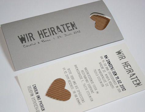 Schön Hochzeitskarte Einladung Natur BeNature