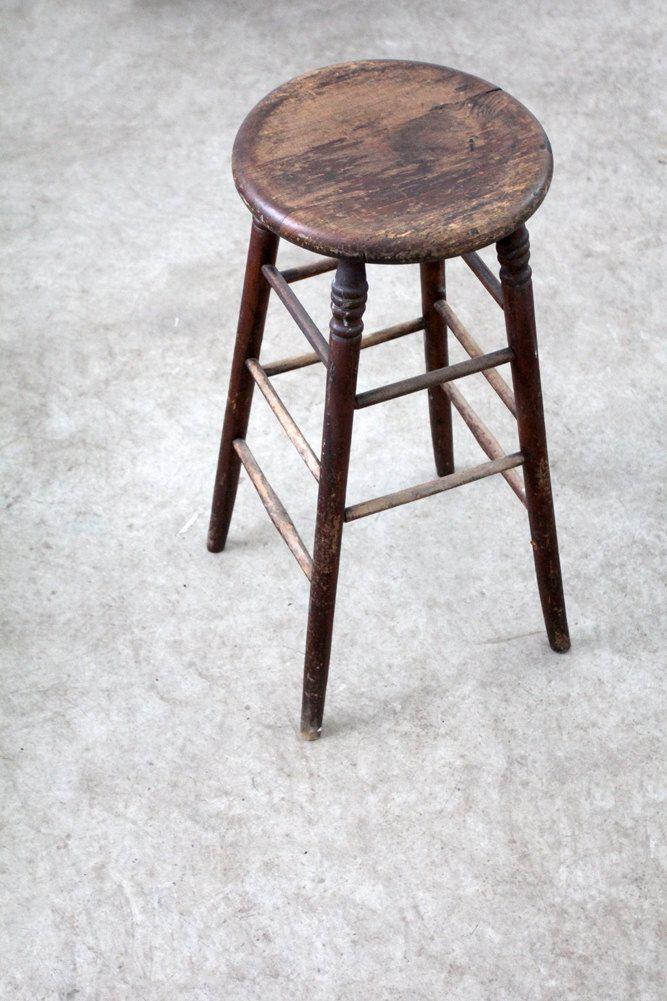 Pleasant Antique Wood Stool Tall Spindle Stool In 2019 How To Inzonedesignstudio Interior Chair Design Inzonedesignstudiocom