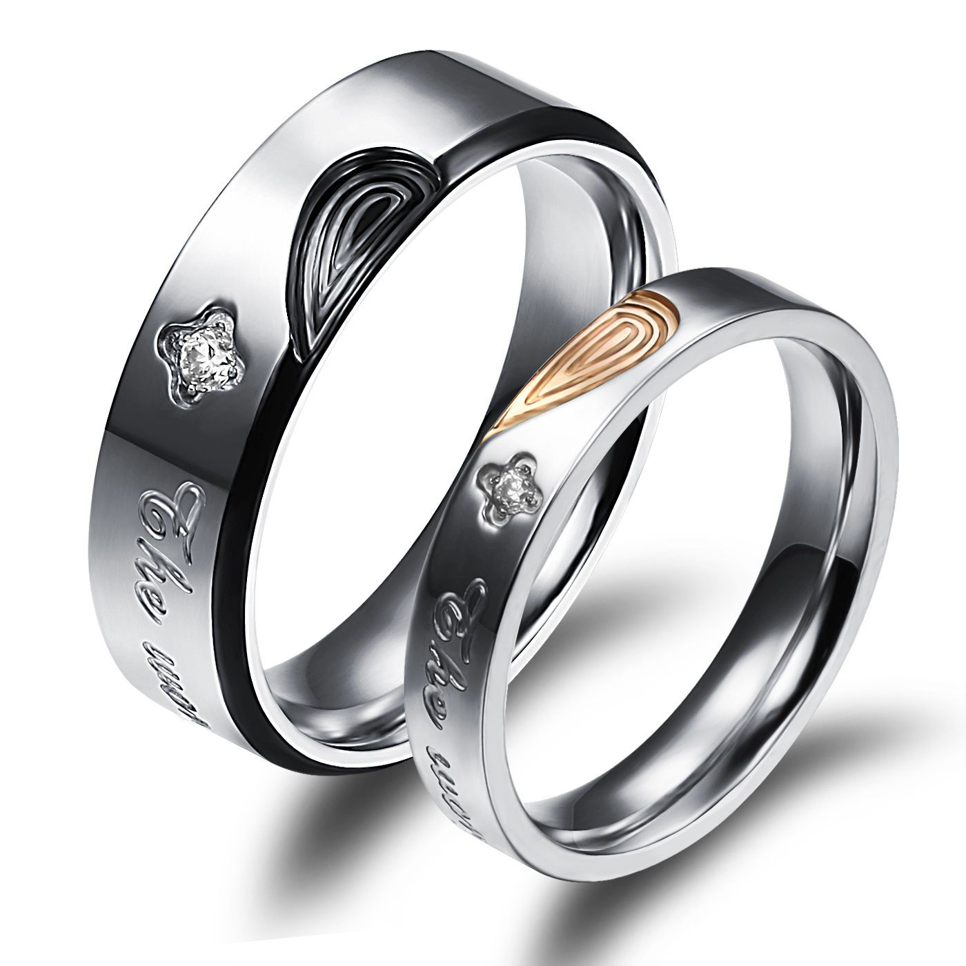 sterling inside pin rings with ring finger wrapped the narrow fingerprint on print wedding silver