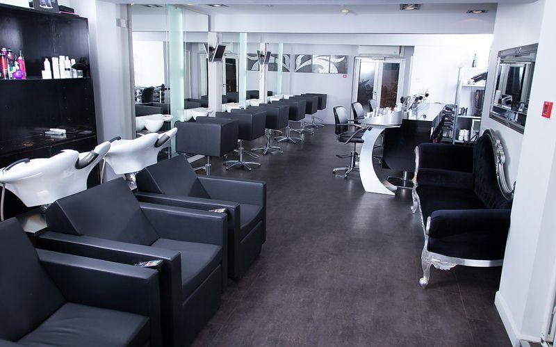 Black And White Salon Decor
