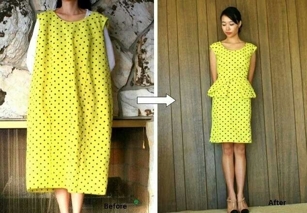 http://alldaychic.com/origami-peplum-dress-diy/