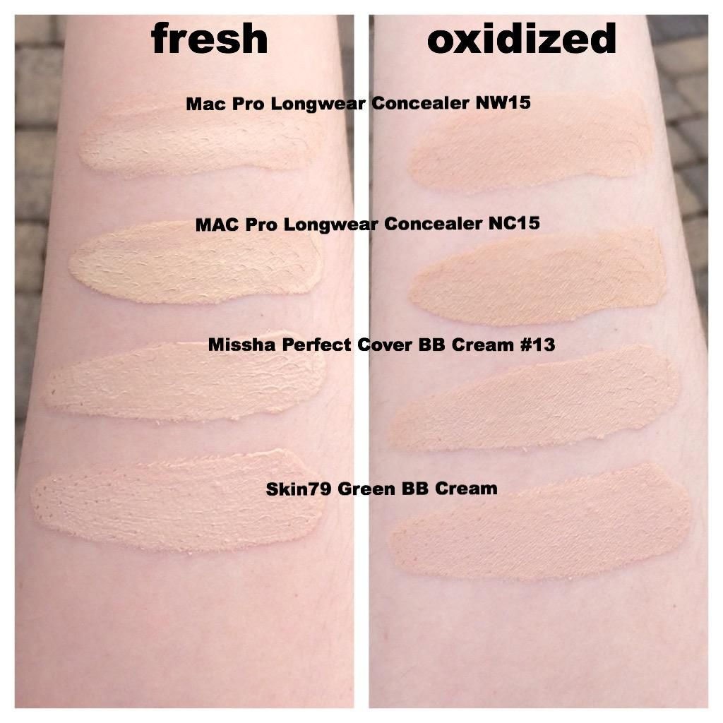 Pale Foundation Bb Cream Concealer Swatches In 2019