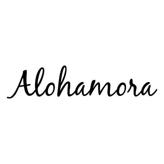 alohamora wall quote vinyl decal whimsical entryway entry door