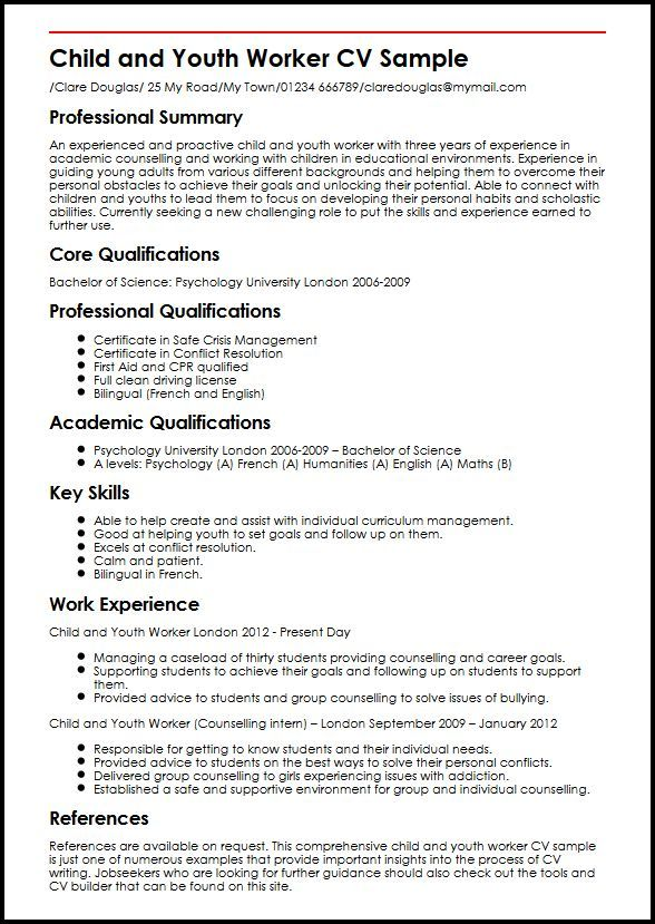 Youth Resume Templates Pinterest Sample Resume Resume And