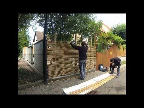 Bambus im Garten u2013 DIY Sichtschutz für die Terrasse Garten- Deko - sichtschutz beton selber machen