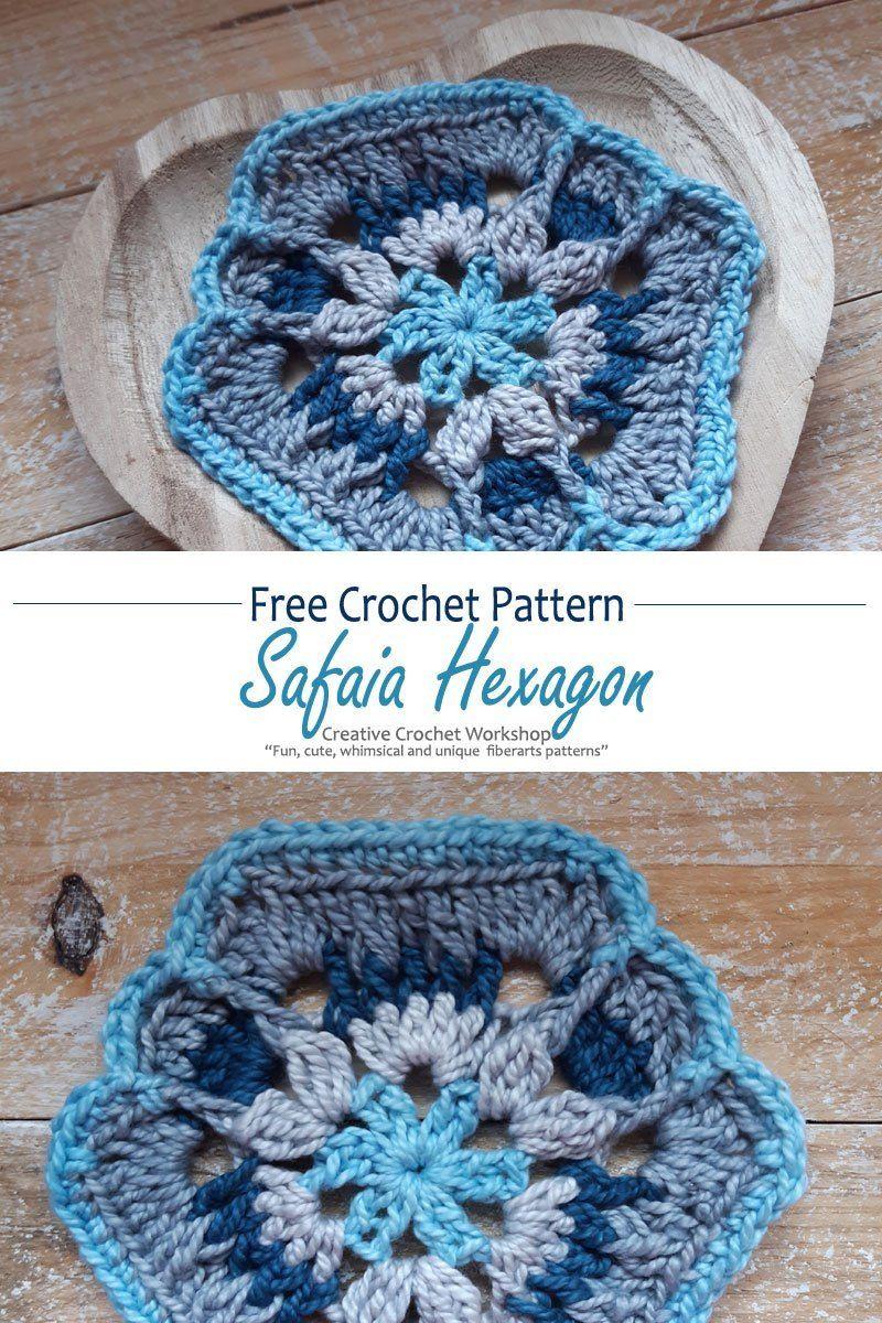 SAFAIA HEXAGON   Crochet patterns, Crochet, Free crochet