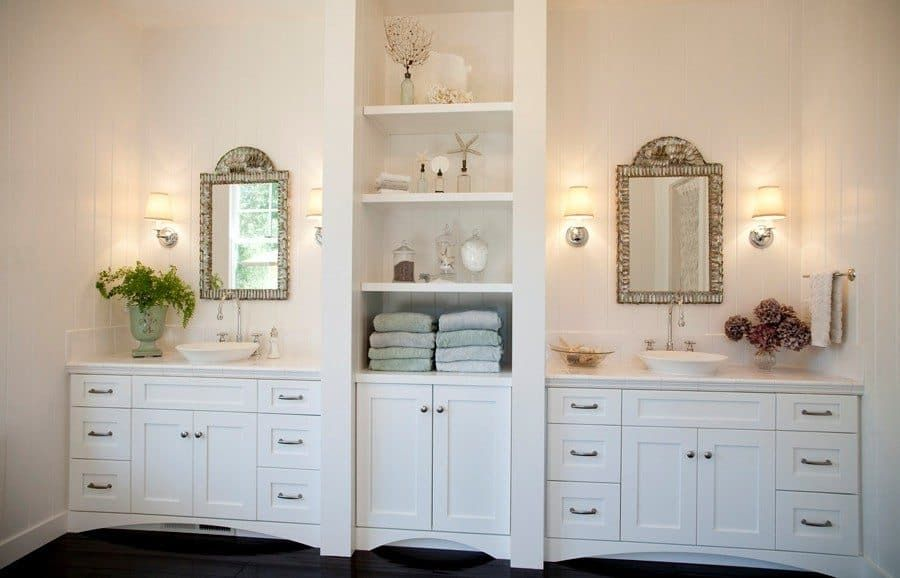 Large White Linen Cabinet For Big Bathroom Small Bathroom Remodel Traditional Bathroom Bathroom Vanity