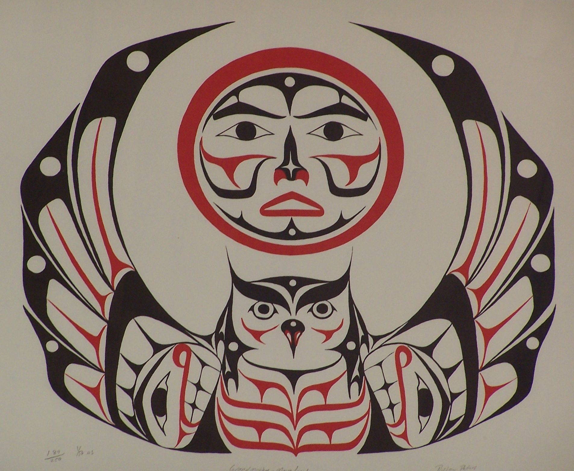 Northwest Coast Native American Art Moon