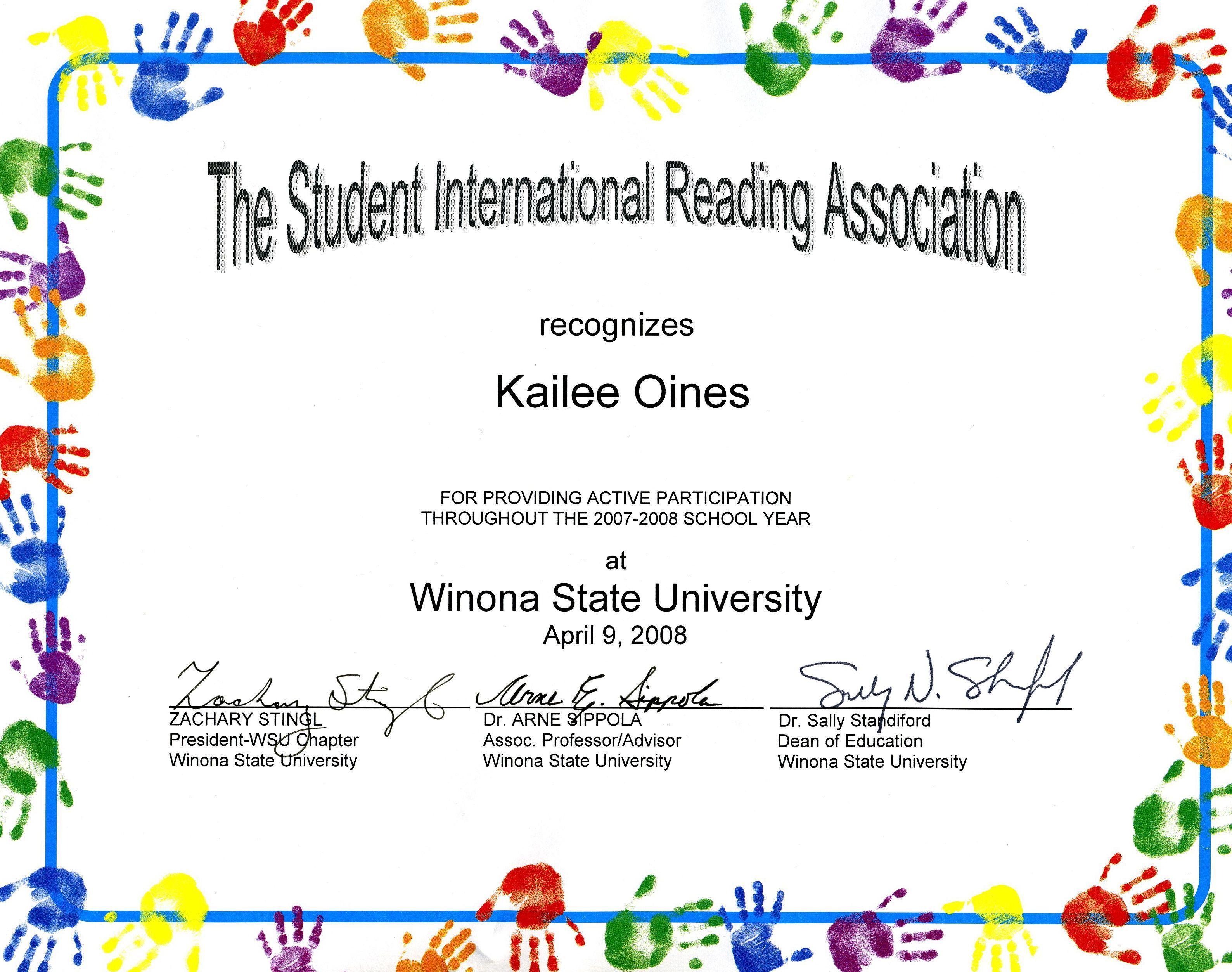 Award Certificates Kids Art Google Search Award