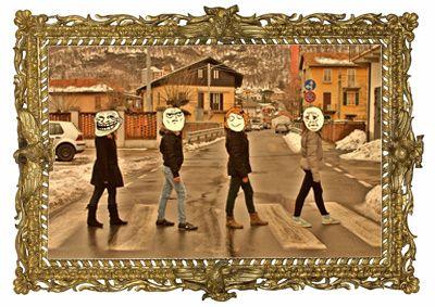 Abbey Road dei Beatles. Ispirato ad una foto di Iain Mcmillan di martasmilys per la redazione il quadrato magico. #imparalarte