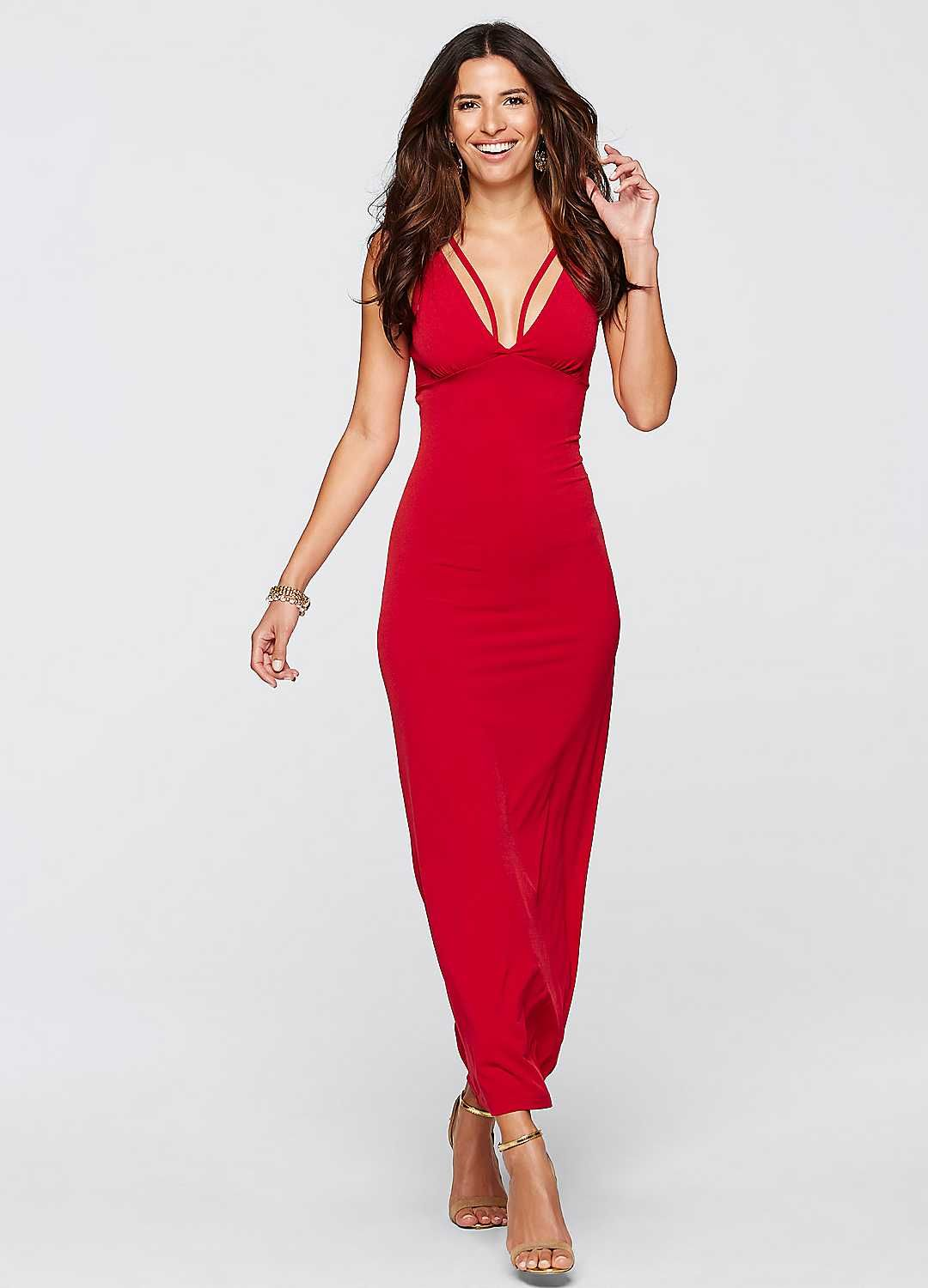 Full Length Evening Dress | £34.99 | bonprix | Party Wear | Pinterest