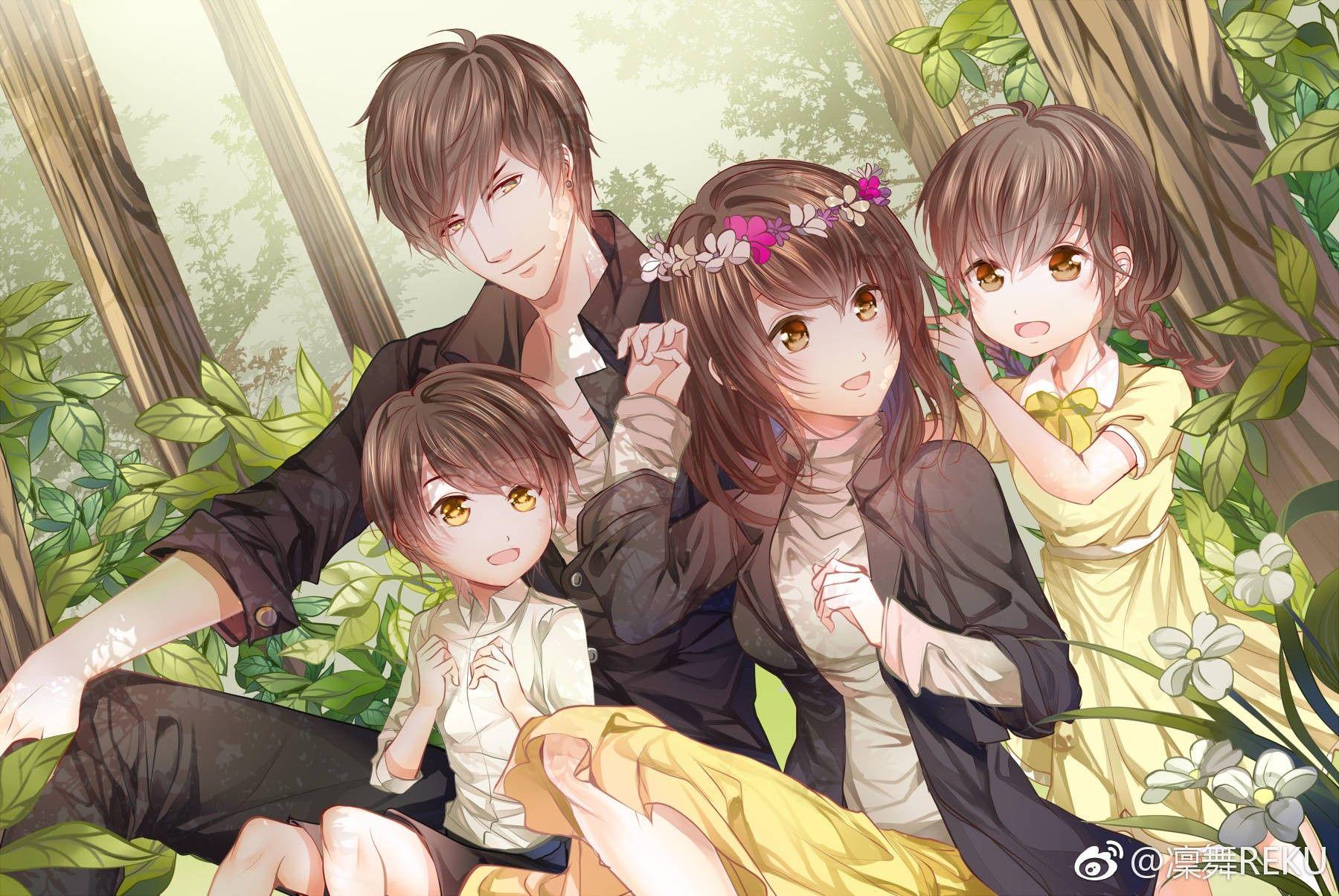Аниме семейные в картинках
