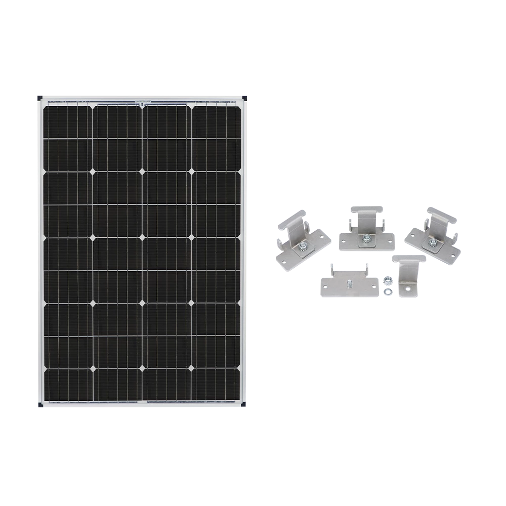 Zamp Solar 115w Deluxe Rv Roof Mounted Expansion Kit Solar Solar Power Kits Roof Solar Panel