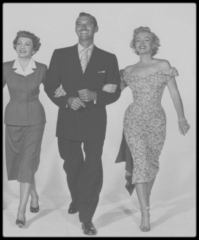 """1951 / Tournage Et Photos Du Film """"Let's Make It Legal"""
