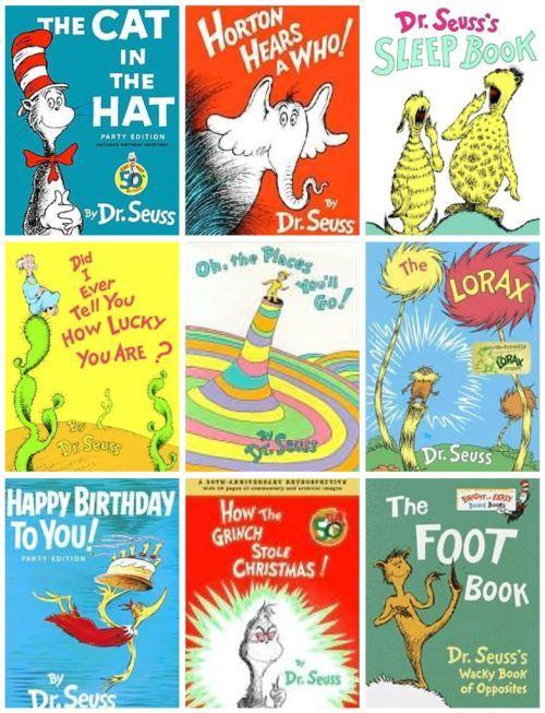Some popular Dr. Seuss books.