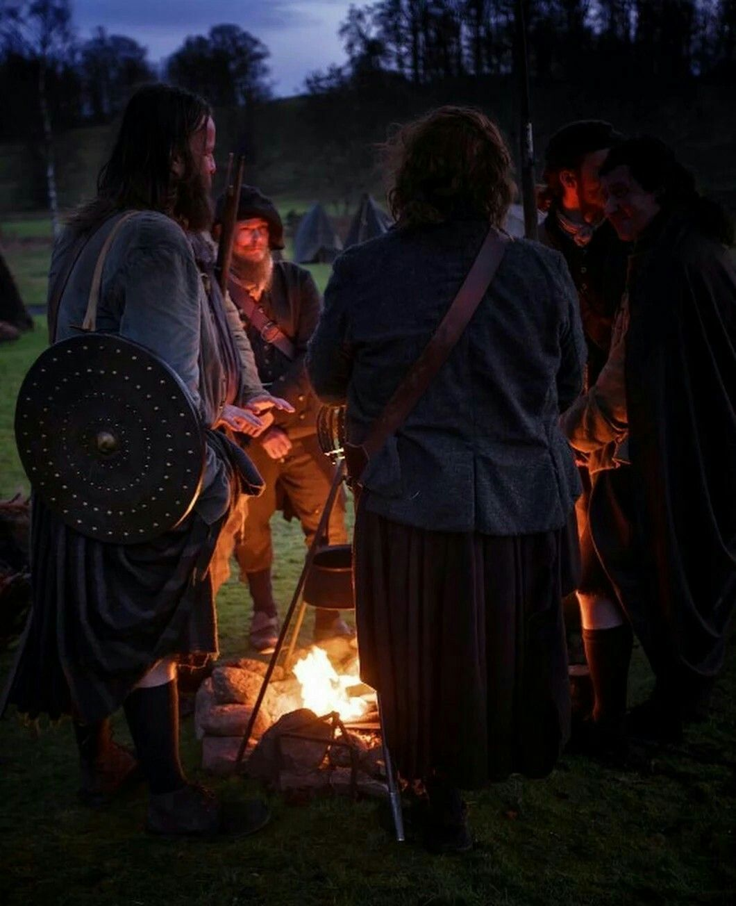 Jacobite army campfire, from the television series Outlander, #comejoinourCampaign, visit jacobitetours.co.uk