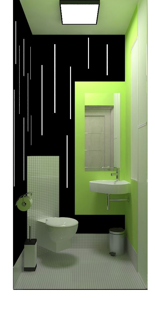 WC with LED-lighting| futuristic design with pop light green | Green ...