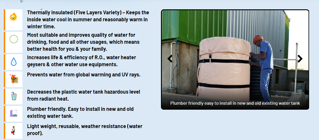 Nova Guard Water Tank Insulation Jackets At Discounted Price In 2020 Water Tank Water Geyser Insulation Materials