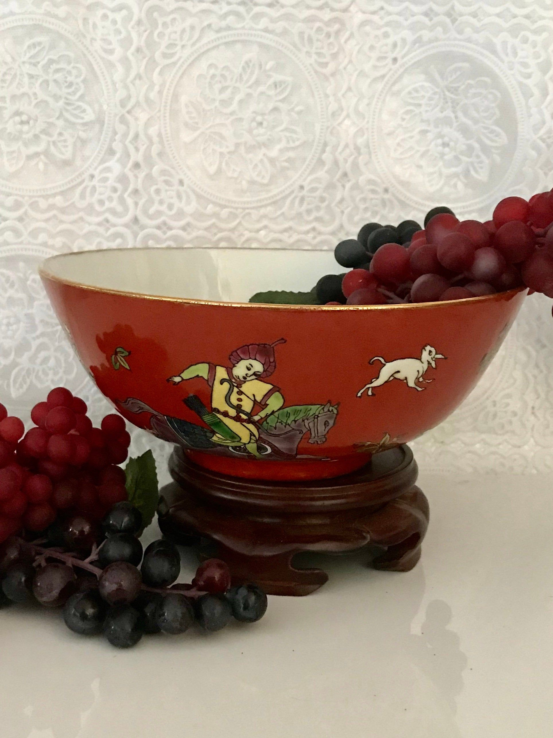 Japanese ceramic bowl vintage replacements kitchen wares oriental noodle  soup bowl decorated Hong Kong