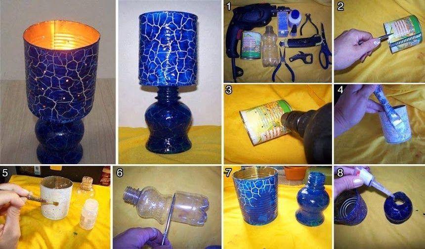 Reciclaje com hacer una lampara como hacer una l mpara con - Como hacer una lampara de mesa ...