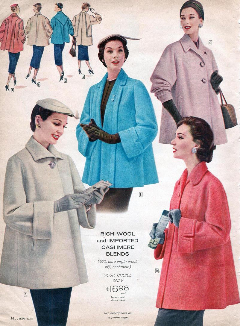 1956 Sears Catalog 34 pages of Coats and Jackets PDF FAS103
