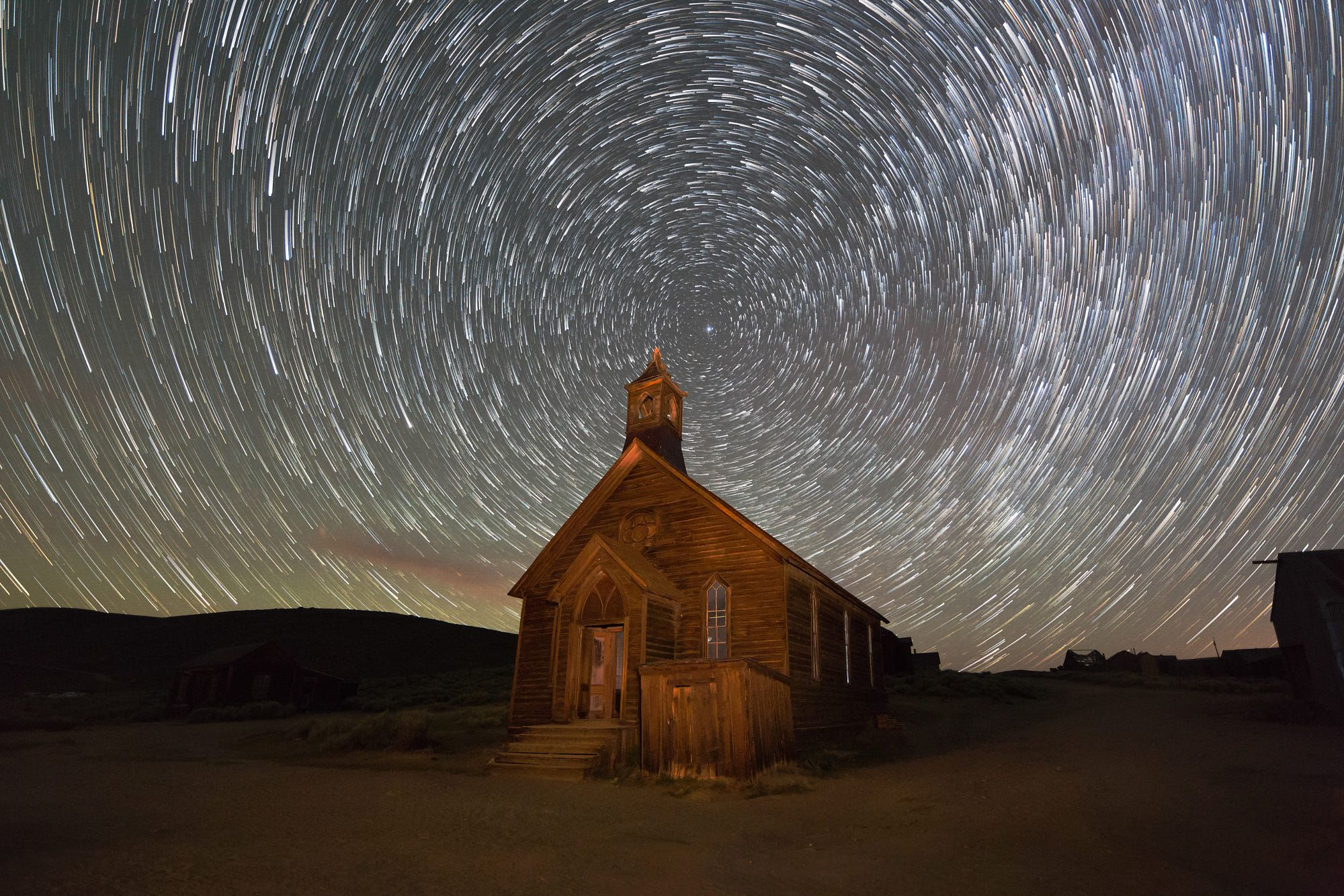 "This is an image from our last night photography workshop in the ghost town of Bodie, California. We have three more night photography dates this year at Bodie, and one for access to building interiors.I processed this image on ""The Landscape Photography Show"" (Episode 14) this week. I covered basic dark sky exposure and demonstrated creating star trails images and time-lapse videos. The recorded copy of the show is up on YouTube: http://youtu.be/YWtkgD4ofMo"