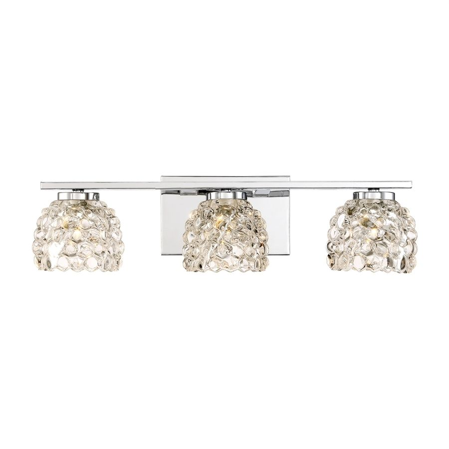 Quoizel Meridian 3-Light 20-in Polished chrome Dome Vanity ...