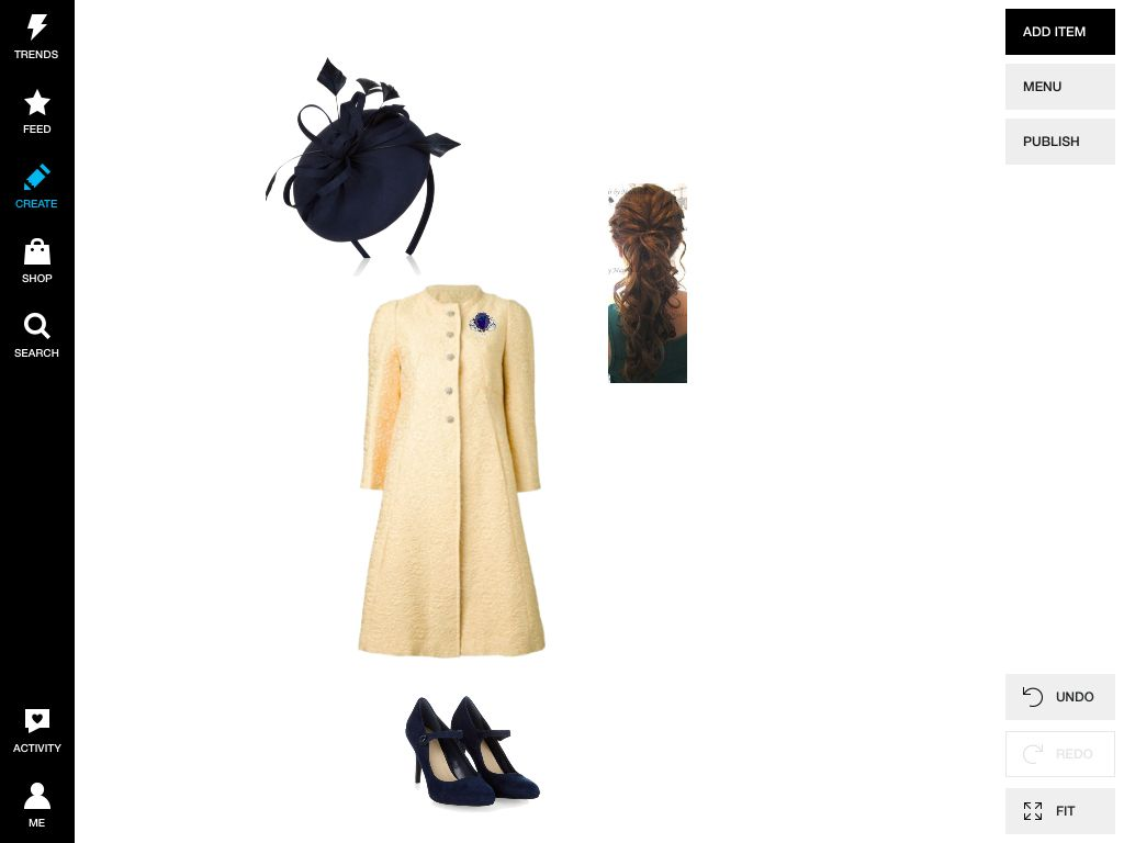 Blue, coat, fascinator, hat, shoes