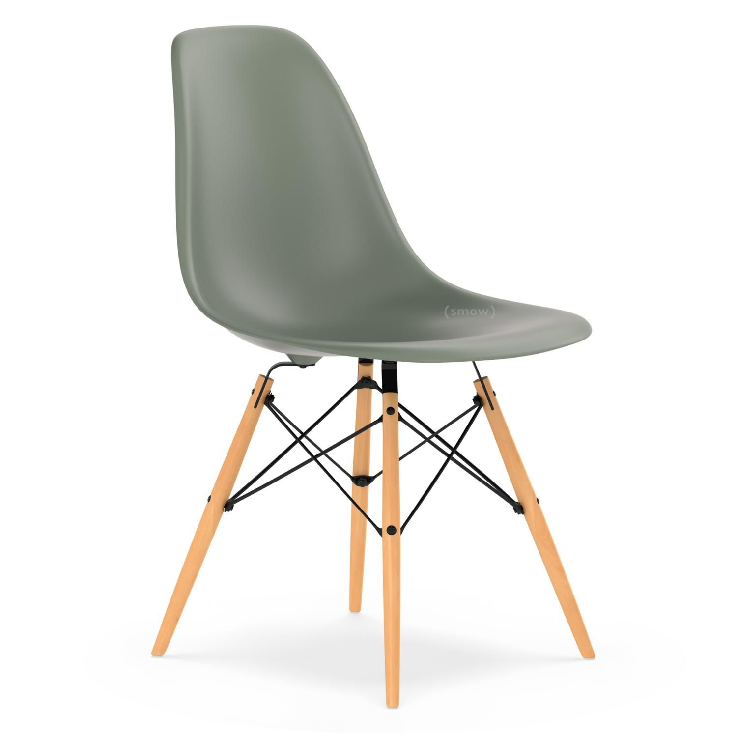 Vitra Eames Plastic Side Chair Dsw Moss Grey New Without Upholstery Without Upholstery S Restoration Hardware Dining Chairs Chair Oversized Chair And Ottoman