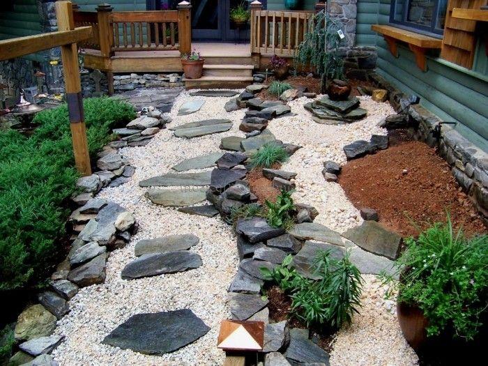 gartenideen mit steinen und kies Gartengestaltung u2013 Garten und - gartengestaltung mit steinen