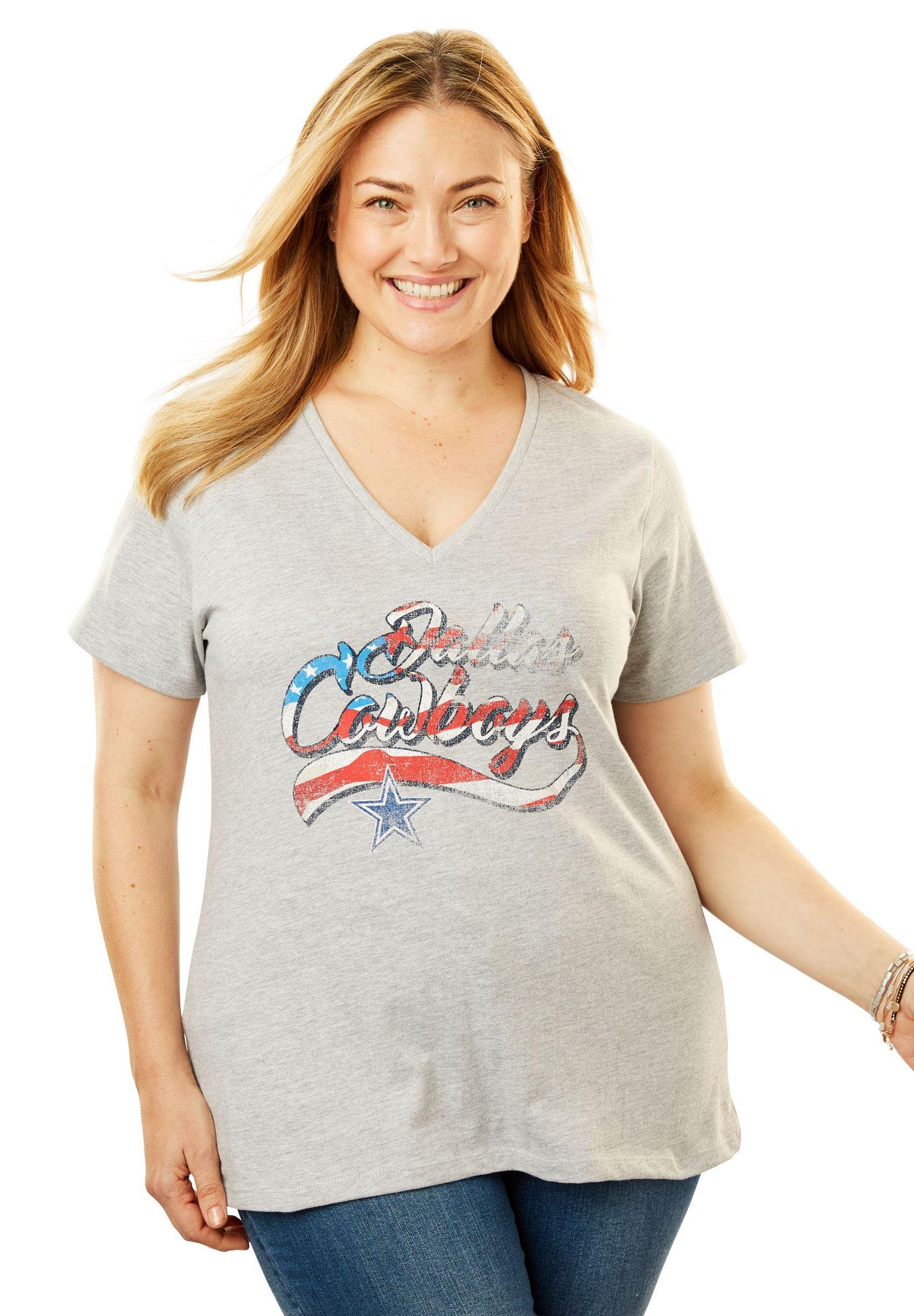 Dallas Cowboys Americana Tee - Women s Plus Size Clothing  3fe57f442