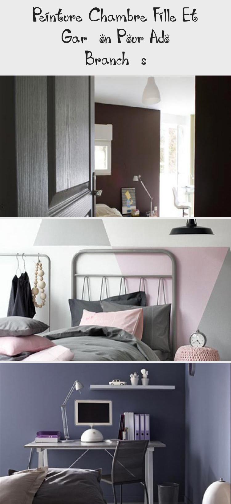 Peinture Chambre Fille Et Garcon Pour Ado Branches Decoration Home Decor Ensuite Home