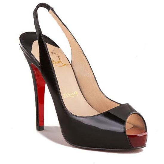 918650435e8 Christian Louboutin No. Prive 120 Patent Slingbacks Red-Black ...