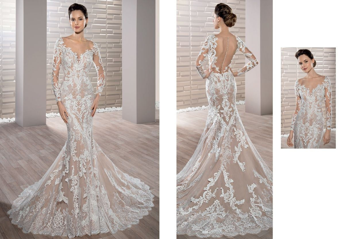 Style richly embroidered luxurious lace adorns this stunning