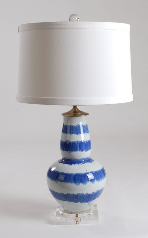 Delightful Blue And White Lamp: Avala And Summerour Lamps
